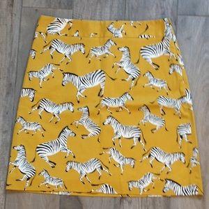 NWT Ann Taylor Factory ZEBRA YELLOW SIZE 6 Skirt